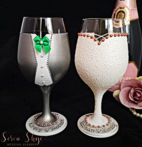 Hand painted beer glasses